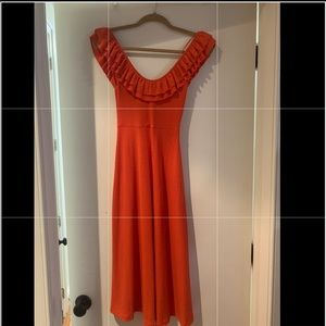 Burnt Orange Midi Dress